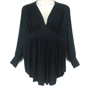Melissa McCarthy 3X Black Knit Tunic Top Seven7